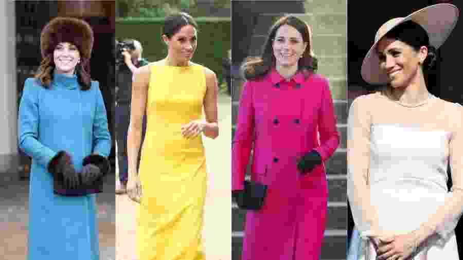 Embora prefiram cores sóbrias, as duquesas às vezes arriscam cores mais alegres - Getty Images