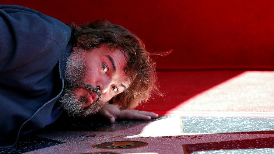 O ator Jack Black ganha estrela na Calçada da Fama de Hollywood - MARIO ANZUONI/Reuters