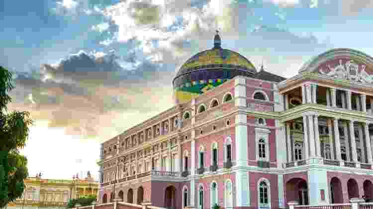Teatro Amazonas, em Manaus - filipefrazao/Getty Images - filipefrazao/Getty Images