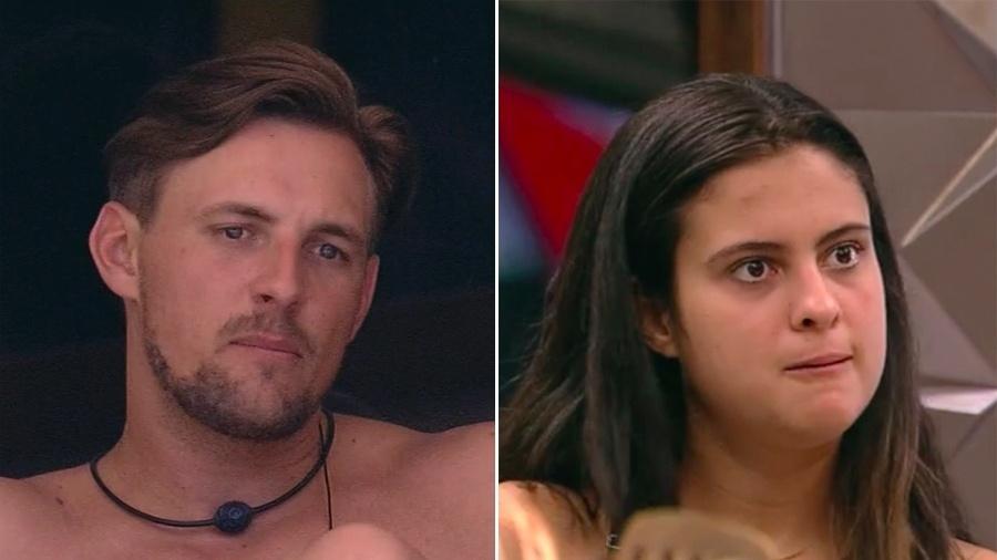 Em menos de 24 horas, Diego e Hana falaram mal das ex-participantes Ana Clara e Ana Paula, respectivamente - Reprodução / TV Globo