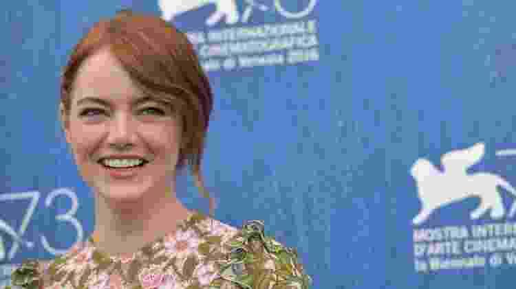 Emma Stone ruiva - Tiziane Fabi/AFP - Tiziane Fabi/AFP