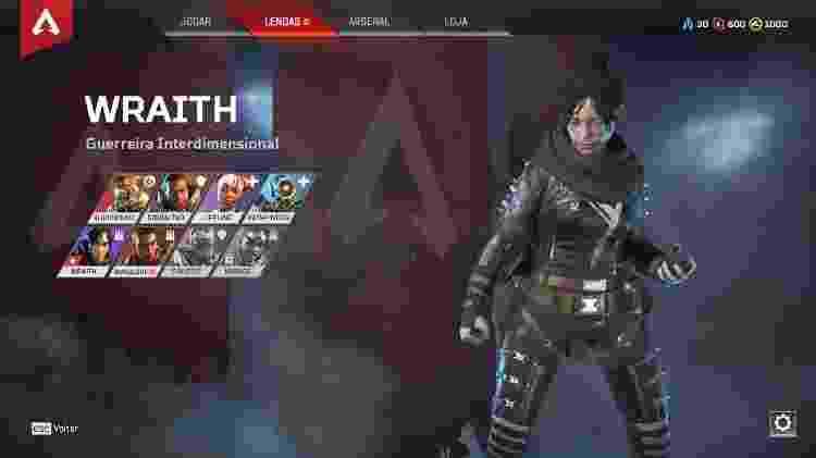 Apex Legends Wraith - Reprodução - Reprodução