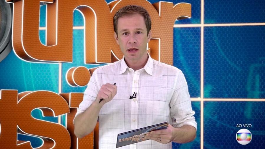 Tiago Leifert conversa com o público do reality show  - Reprodução/TvGlobo