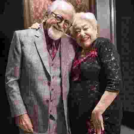 Antero (Ary Fontoura) e Marlene (Suely Franco) em A Dona do Pedaço - João Miguel Júnior/Globo