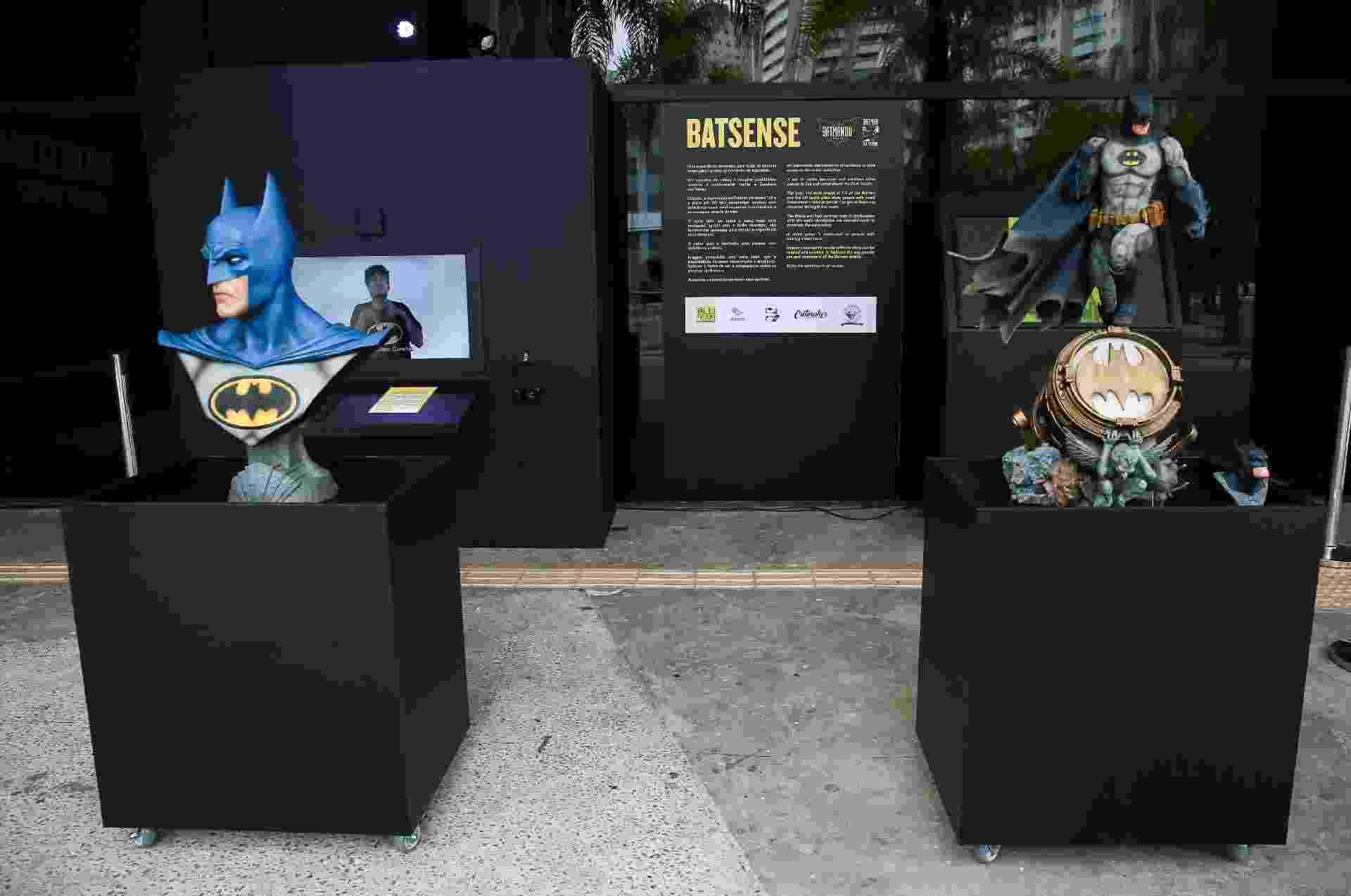 Batman 80 - Exposição ganhou uma área acessível e ativações específicas para deficientes visuais e auditivos. - Iwi Onodera/UOL