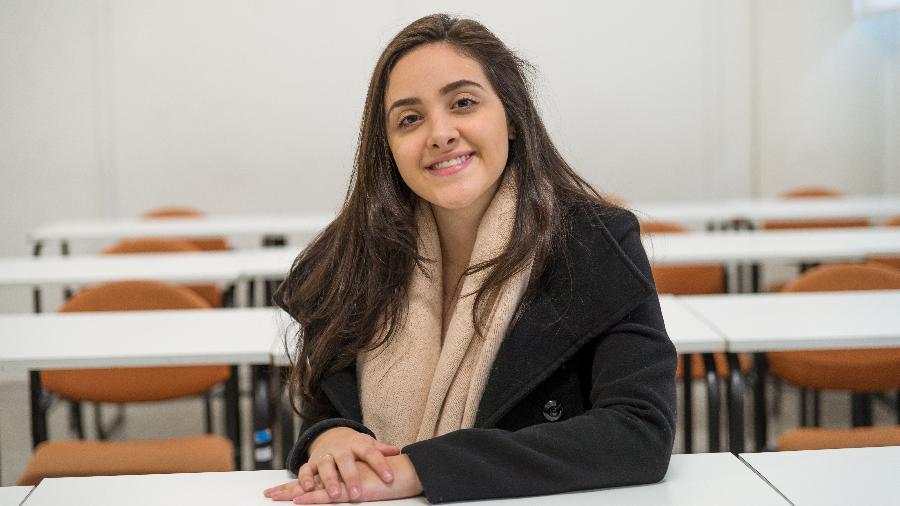 """Pensando em acabar com a """"pobreza menstrual"""", Rafaella de Bona criou absorvente para mulheres em situação de rua - André Filgueira/Sucom-UFPR."""