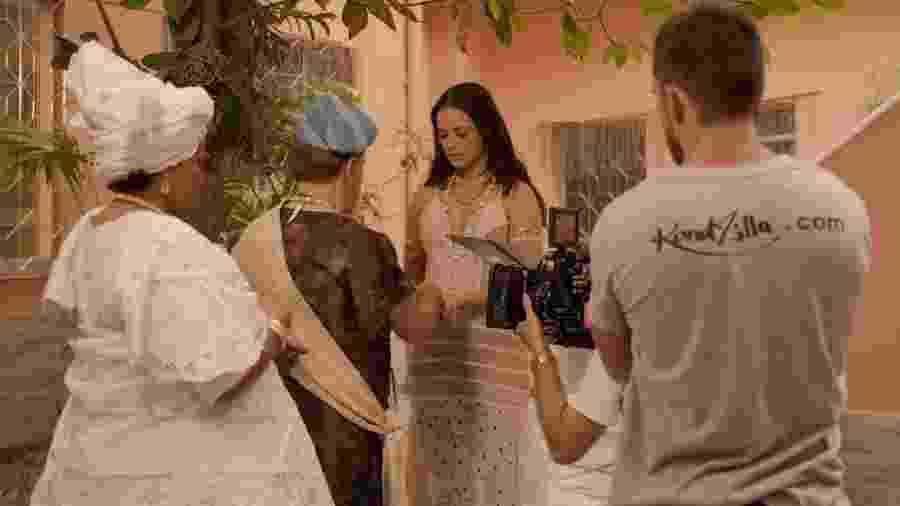 Paolla Oliveira grava clipe em terreiro de candomblé - Gabriel Gomes/Kondzilla