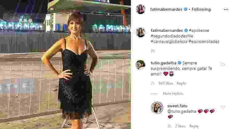 Reprodução/Instagram/fatimabernardes