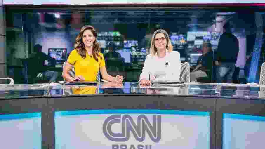 """Monalisa Perrone e Daniela Lima na bancada do """"Expresso CNN"""", telejornal diário do canal que estreia dia 15 - Divulgação CNN/Spokesman"""
