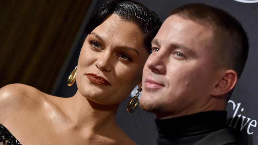 25.01.2020 - Jessie J e Channing Tatum em evento pré-Grammy, em Los Angeles (EUA) - Axelle/Bauer-Griffin/FilmMagic