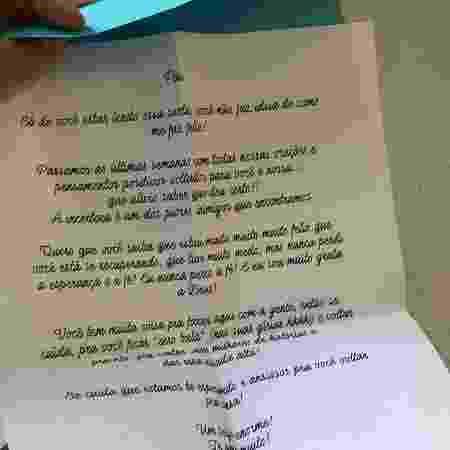Cartas terapêuticas - Arquivo pessoal - Arquivo pessoal