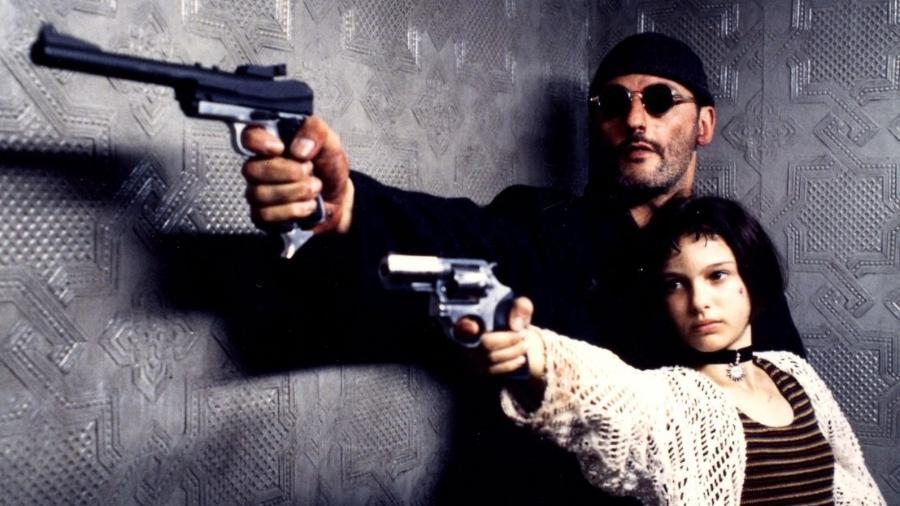 """Jean Reno e Natalie Portman em """"O Profissional"""" - Divulgação"""