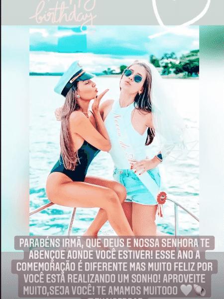 BBB 21: Thais Braz faz aniversário no dia da estreia do reality e irmã posta foto - Reprodução/Instagram - Reprodução/Instagram