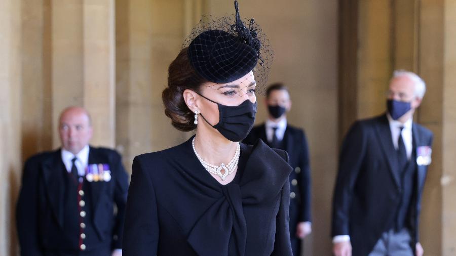 Kate Middleton chega para o funeral de príncipe Philip, em Windsor - Chris Jackson/WPA Pool/Getty Images