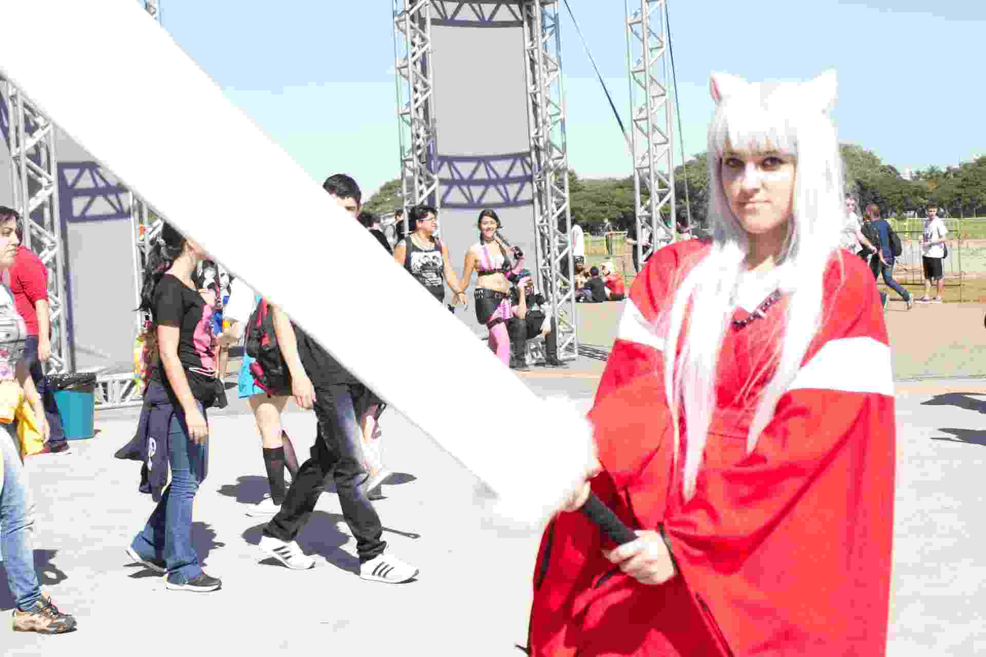 19.jul.2015 - Público vai a Anime Friends na tarde de domingo (19), em São Paulo, vestido como seus personagens preferidos - Fabricio Bomjardim/Brazil Photo Press/Estadão Conteúdo