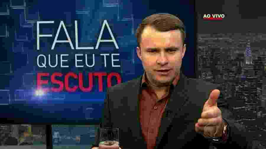 """Bispo Márcio Carotti, da Igreja Universal, no """"Fala que Eu te Escuto"""", programa da Record - Reprodução/TV Record"""