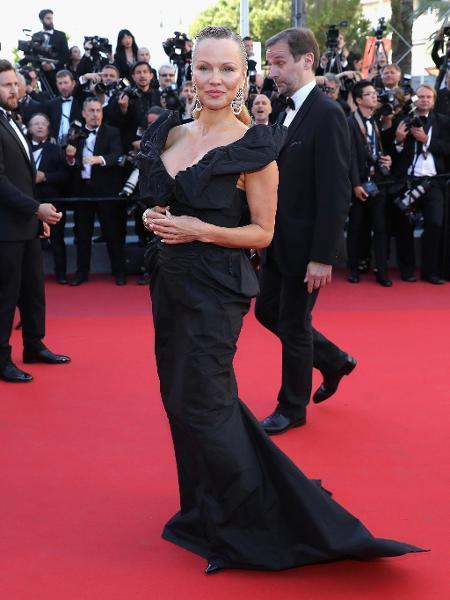 20.mai.2017 - Pamela Anderson em Cannes - Getty Images