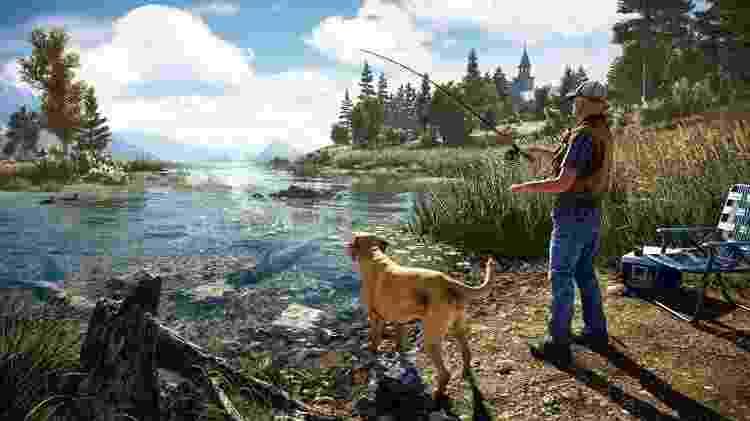 """Nos momentos de descontração, será possível pescar em """"Far Cry 5"""" - Divulgação/Ubisoft"""