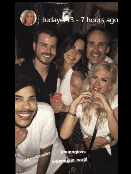 Ludmila Dayer comemora com o marido e amigos seu aniversário - Reprodução/Instagram - Reprodução/Instagram