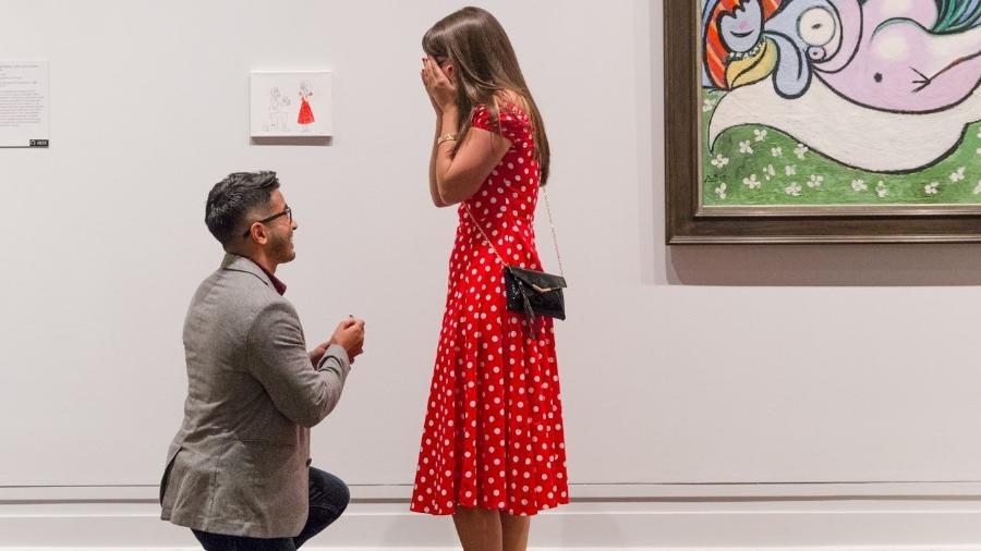 "Chris Narine pede a mão de Marybeth O""Haire no Metropolitan de NY - Kelly Joyce Photography"