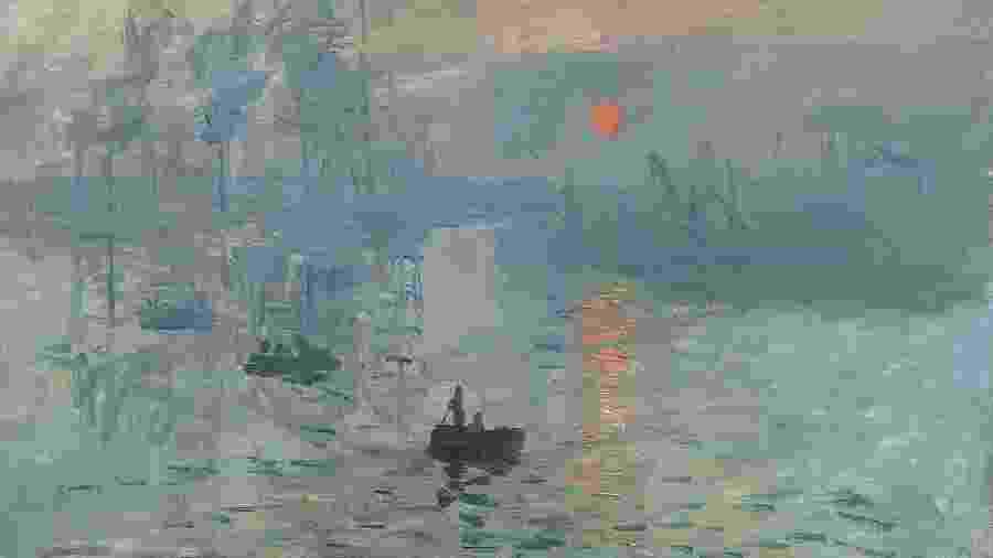 """Quadro """"Impressão, nascer do sol"""", de Claude Monet - Reprodução"""