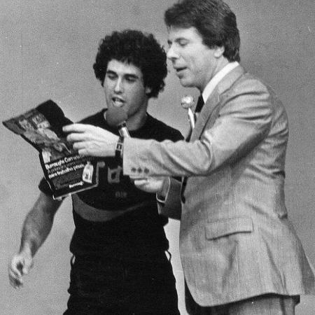 Sérgio Mallando e Silvio Santos em foto antiga postada pelo humorista - Reprodução/Instagram/sergiomallandro