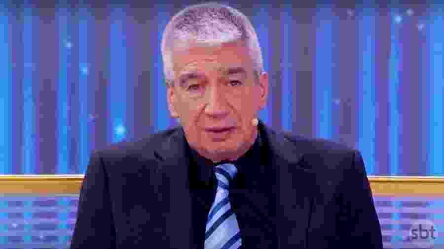 """Décio Piccinini participa de quadro no """"Programa Silvio Santos"""" - Reprodução/SBT"""