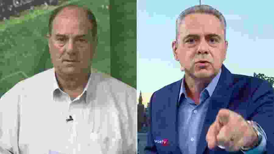 """Edson Callegares acusa Luis Roberto de ter tomado bordão """"Sabe de quem?"""" - Montagem/UOL"""