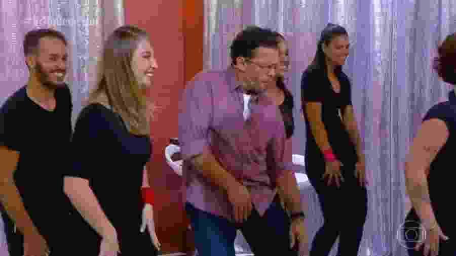 """Fernando Rocha dança no """"Bem Estar"""" - Reprodução/Globo"""
