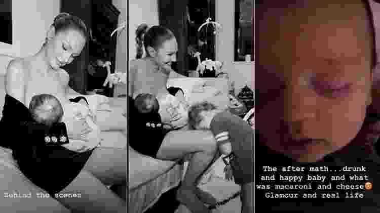 Candice Swanepoel amamenta Ariel - Reprodução/Instagram - Reprodução/Instagram