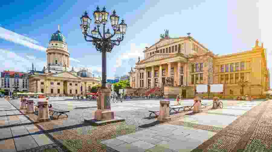 Praça Gendarmenmarkt, no centro de Berlim - iStock