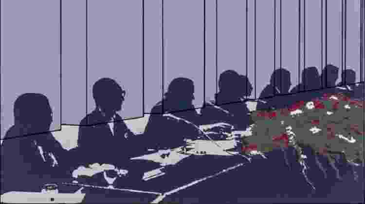 Mesa Executiva 1 (1975), de Regina Silveira, fez parte de uma exposição sobre o impacto do ato institucional nas artes visuais, realizada entre setembro e novembro deste ano em São Paulo  - Cortesia Regina Silveira e Luciana Brito Galeria - Cortesia Regina Silveira e Luciana Brito Galeria