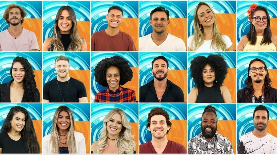"""Participantes do """"BBB 19"""". Programa estreia na terça. - Montagem/TV Globo"""