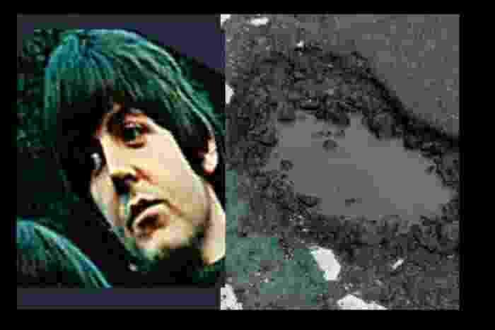 Com quem este buraco flagrado no Reino Unido se parece? - Reprodução/Lancashire Evening Post
