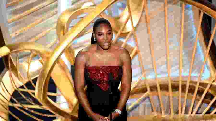 Serena Williams durante a cerimônia do Oscar no domingo (24) - AFP