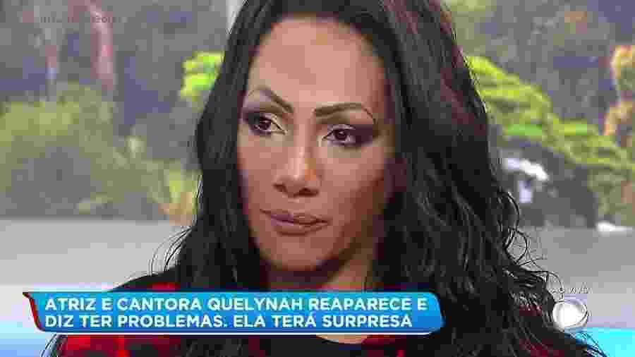 """A atriz e cantora Quelynah reaparece e ganha tratamento médico no """"Balanço Geral"""", da Record - Reprodução/Record"""