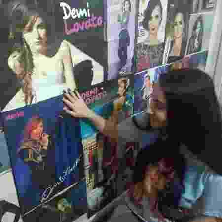 Cecília Grassi, 17, de Caxias do Sul, RS, fã da cantora Demi Lovato - Arquivo Pessoal - Arquivo Pessoal