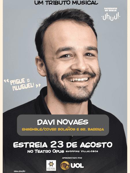 """Davi Novaes fará coro e será substituto de Roberto Gómez Bolaños e Sr. Barriga em """"Chaves - Um Tributo Musical"""" - Divulgação - Divulgação"""