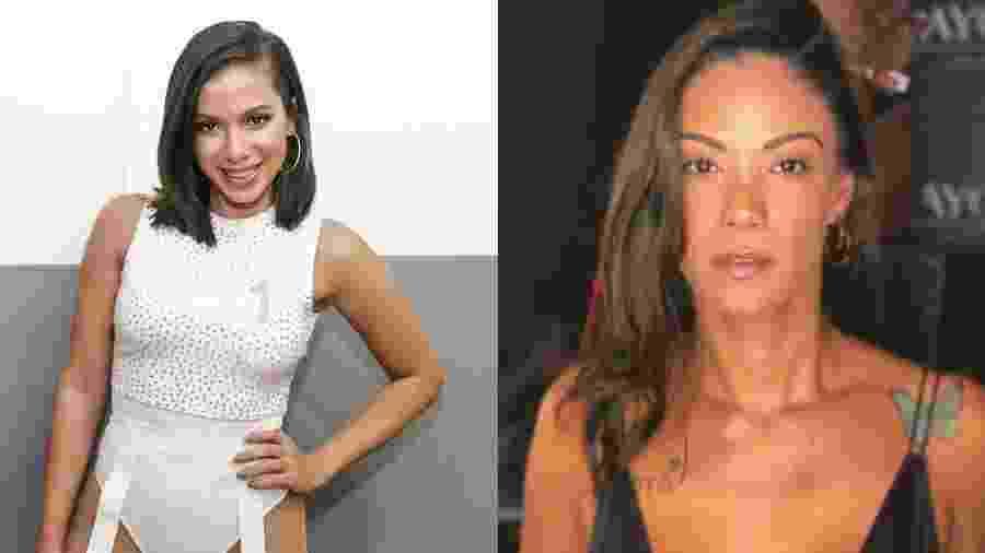 Anitta e a ex-empresária Kamilla Fialho - Paulo Tauil/Brazil News/Reprodução/Instagram/Montagem UOL