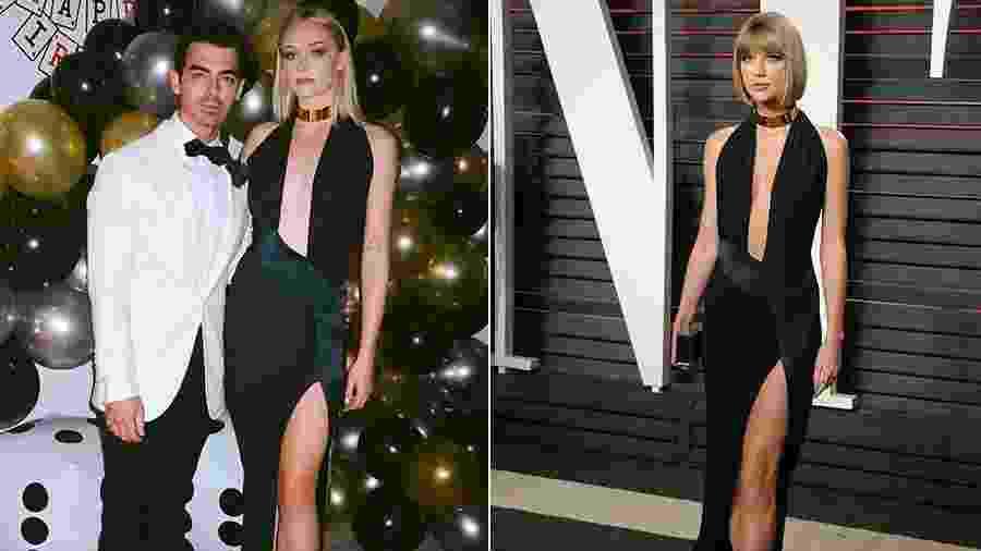Sophie Turner e Taylor Swift - Reprodução/Instagram e Getty Images