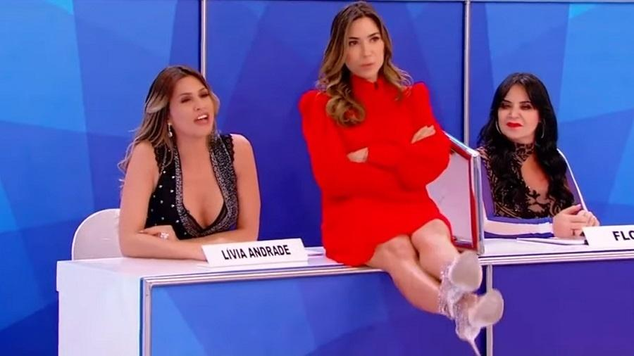 Lívia Andrade rebate Patrícia Abravanel no Jogo dos Pontinhos - Reprodução/SBT