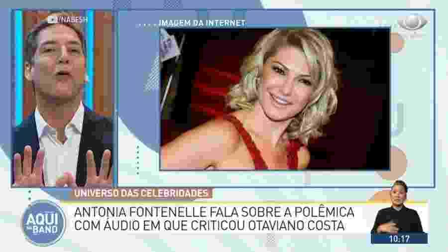 Antonia Fontenelle deixa Luís Ernesto Lacombe em saia justa no Aqui na Band - Reprodução/Band