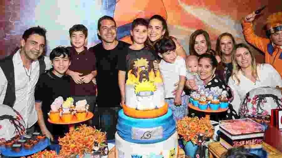 Zezè DiCamargo e Zilú Godói compareceram a aniversário do neto, José Marcus, filho de Wanessa Camargo - Manuela Scarpa e Marcos Ribas/Brazil News