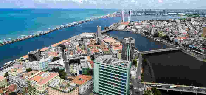 Vista aérea do Recife, Pernambuco - Getty Images