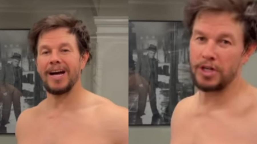 Mark Wahlberg em vídeo sobre malhação - Reprodução/Instagram