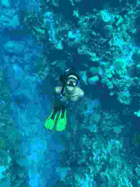 Bárbara em mergulho no Caribe - Patricia Schussel Gomes - Patricia Schussel Gomes