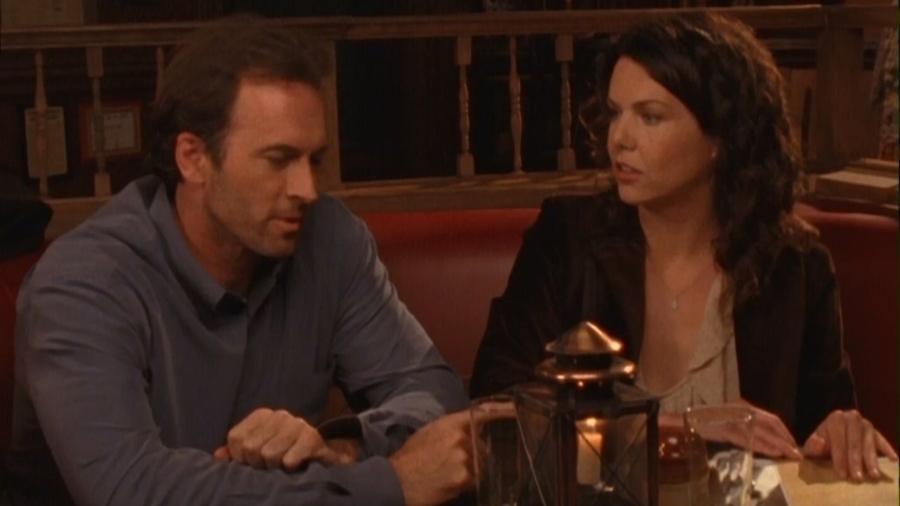"Luke (Scott Patterson) e Lorelai (Lauren Graham) em ""Gilmore Girls"" - Divulgação"