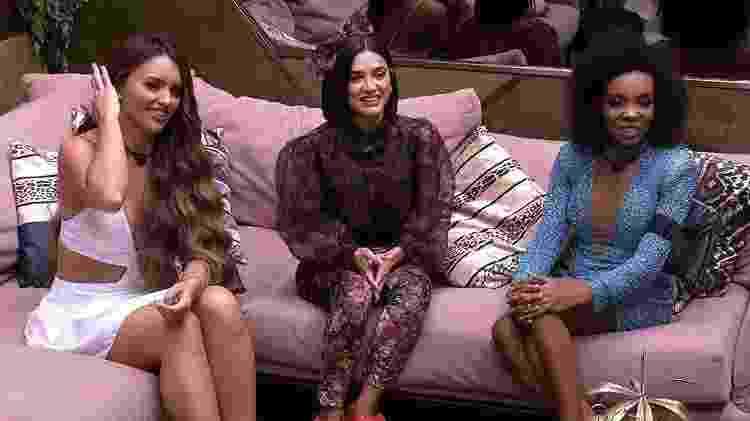 Rafa, Manu e Thelma na final do BBB 20 - Reprodução/TV Globo - Reprodução/TV Globo