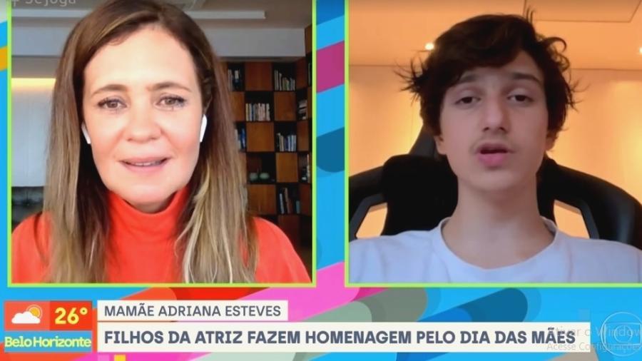 """Adriana Esteves se emociona com mensagens dos filhos no """"Se Joga"""" - Reprodução/Globo"""