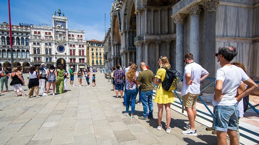 Turistas retornam para Veneza, na Itália - Getty Images